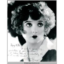 Madge Bellamy Autographed Negative and Photograph