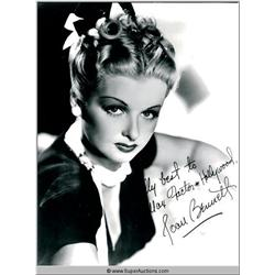 Joan Bennett Autographed Negative and Photograph