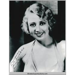 Joan Blondell Autographed Negative and Photograph