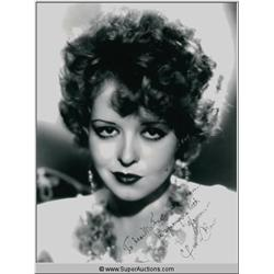Clara Bow Autographed Negative and Photograph