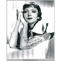Claudette Colbert Autographed Negative and Photograph
