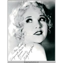 Betty Compson Autographed Negative and Photograph