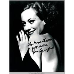 Joan Crawford Autographed Negative and Photograph
