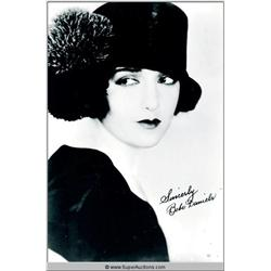 Bebe Daniels Autographed Negative and Photograph