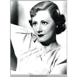 Irene Dunne Autographed Negative and Photograph