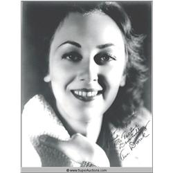 Ann Dvorak Autographed Negative and Photograph