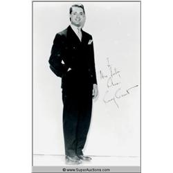 Cary Grant Autographed Negative and Photograph