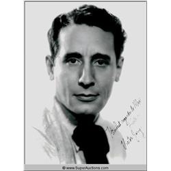 Victor Jory Autographed Negative and Photograph