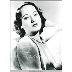 Merle Oberon Autographed Negative and Photograph