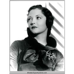 Sylvia Sidney Autographed Negative and Photograph