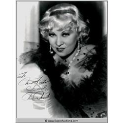 Mae West Autographed Negative and Photograph