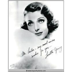 Loretta Young Autographed Negative and Photograph