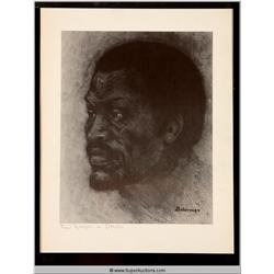 Paul Roberson as Othello Sketch
