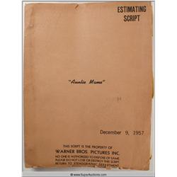 """Auntie Mame"" Estimating Screenplay & Wig Negatives"