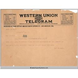 Western Union Telegrams {Julian Eltinge}