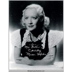 Miriam Hopkins Autographed Negative and Photographs