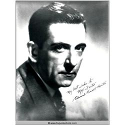 Edward Everett Horton Autographed Negative and Photograph