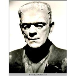 Boris Karloff Wig block Negative and Photograph