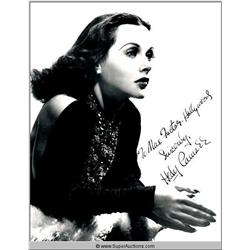 Hedy Lamarr Autographed Negative and Photograph