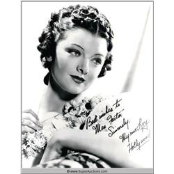 Myrna Loy Autographed Negative and Photograph