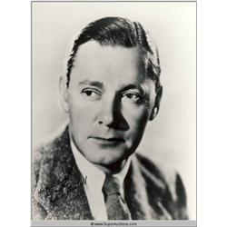 Herbert Marshall Autographed Negative and Photograph