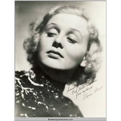 Gloria Stewart Autographed Negative and Photograph