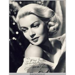 Lana Turner Autographed Negative and Photograph