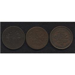 Lot of Three Lower Canada Tokens