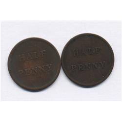 Lot of Two Lower Canada Tokens