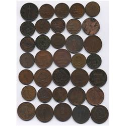 Lot of Thirty Five Quebec Tokens