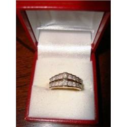 Ladies 10K Yellow Gold Diamond Ring