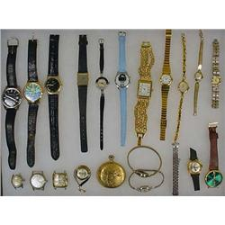 LARGE LOT OF WATCHES - INCL. ROLLIE POCKET WATCH -