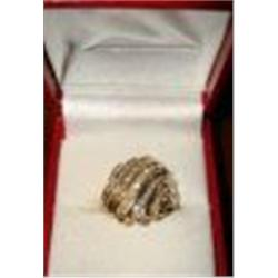 155A: Lady's 10K Yellow Gold Diamond Ring