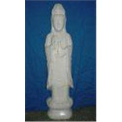 239: Large White Jade Standing Kwanyin