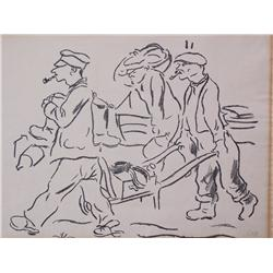 GEORGE GROSZ Signed Litho American German
