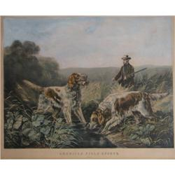 Currier and Ives American Field Sports: Retrieving