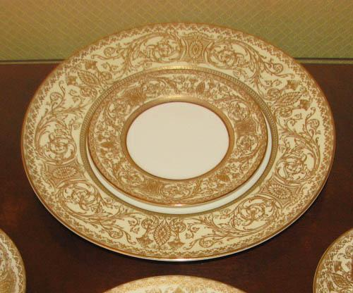 ... Image 5  Royal Worcester gold and white Embassy dinnerware & Royal Worcester gold and white Embassy dinnerware