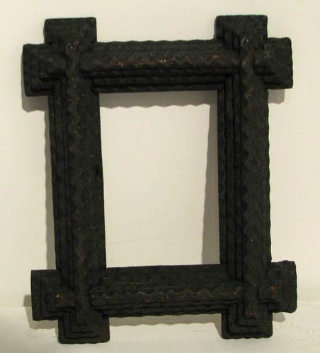 two Tramp Art Picture Frames