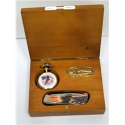 Hautman Collection Quartz Watch & Pocket Knife
