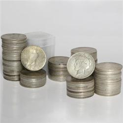 Lot of 10 US MINTED Peace Silver Dollars