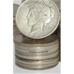 Lot of 10 Peace Silver Dollars