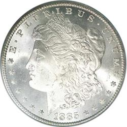 1885-CC Morgan Silver Dollar - In GSA Holder