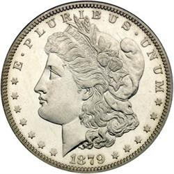 1879-s Morgan BU Silver Dollar-MS 62 PLUS!