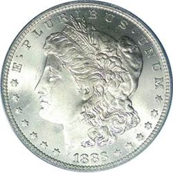1883-0 Morgan Silver BU Coin