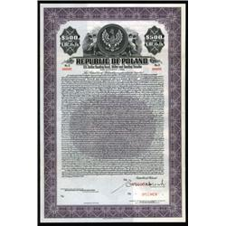 Republic of Poland - Dollar and Sterling Tranche Specimen Bond.
