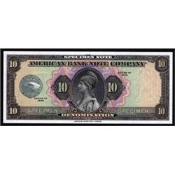 American Bank Note Company, Specimen Note.
