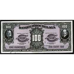 Banque D'Hochelaga, 1917-20 Issue Banknote Proof.