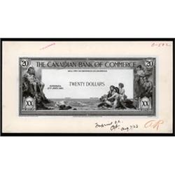The Canadian Bank of Commerce, 1917 issues Approval Proof.