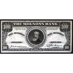 Molsons Bank, 1914 Issue.