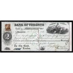 Bank of Toronto Bill of Exchange.
